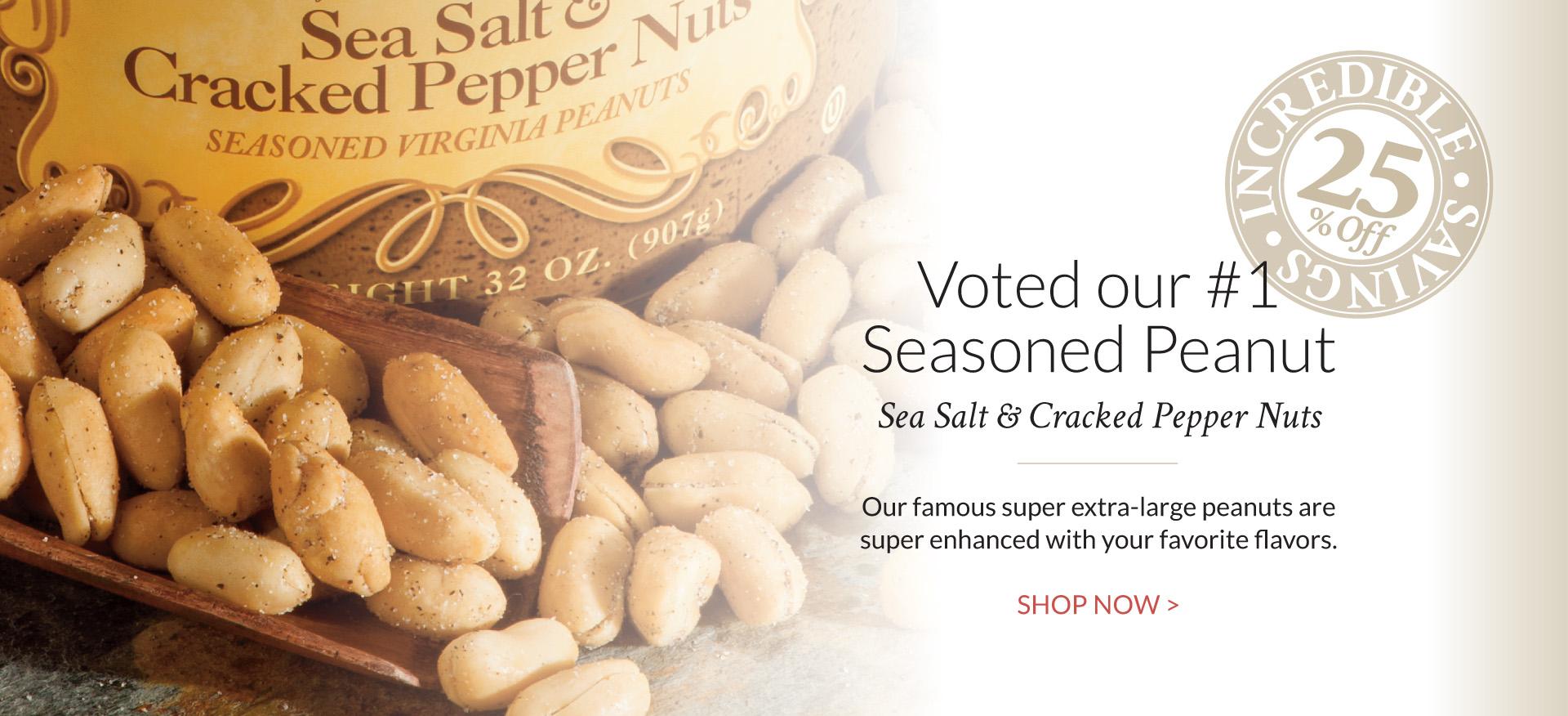 Salt and Pepper Peanuts