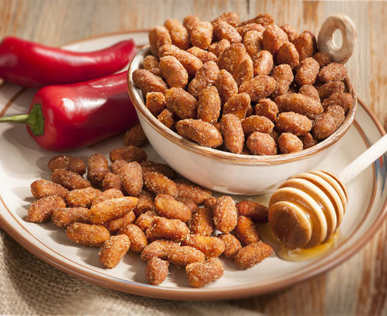 Honey Roasted Chipotle Spiced Peanuts