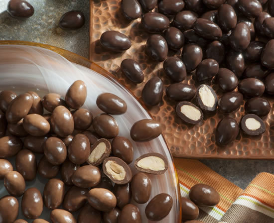 Dark & Milk Chocolate Covered Almonds